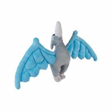 Baby blauwe pterosaurus knuffel dinosaurier