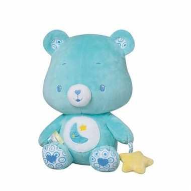 Baby blauwe troetelbeer knuffelrammelaar