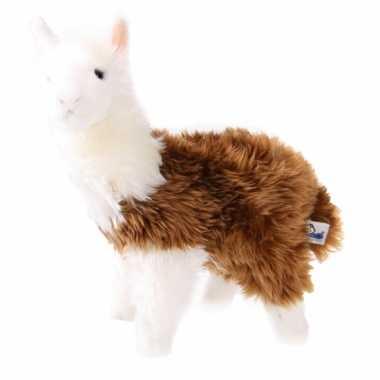 Baby  Bruin witte lama knuffel