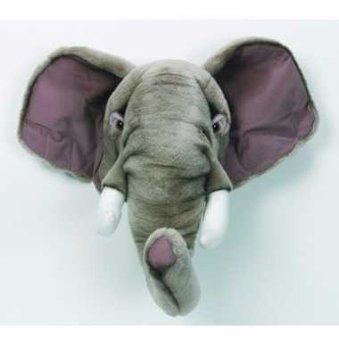 Baby  Decoratie olifanten hoofd knuffel