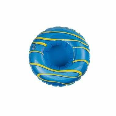 Baby donut opblaas zwemband blauw poppen/knuffels