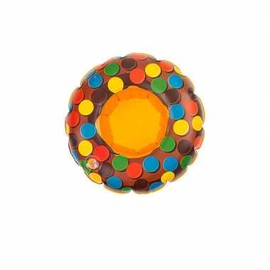 Baby donut opblaas zwemband bruin poppen/knuffels