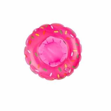 Baby donut opblaas zwemband roze poppen/knuffels
