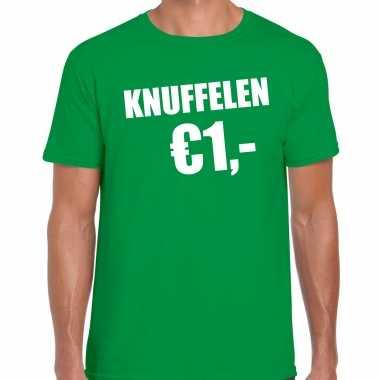 Baby fun t shirt knuffelen euro groen heren