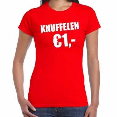Baby fun t shirt knuffelen euro rood dames