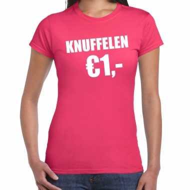 Baby fun t shirt knuffelen euro roze dames