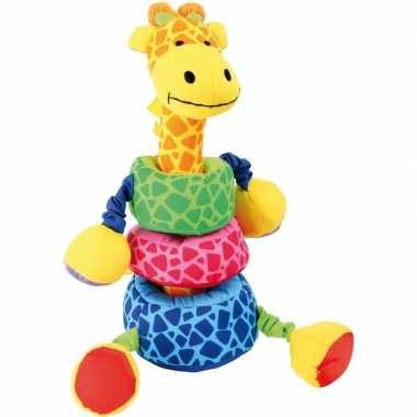 Baby gekleurde insteek giraffe knuffel