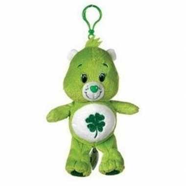 Baby groene troetelbeer geluksbeertje tashanger knuffel