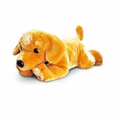 Baby grote blonde labrador pup knuffel