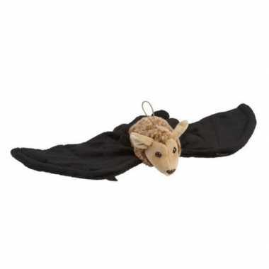 Baby hangende vleermuis zwart bruin knuffels kopen