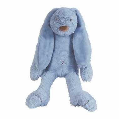 Baby happy horse knuffel konijn donkerblauw
