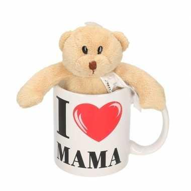 Baby i love mama mok beker knuffelbeer moederdag