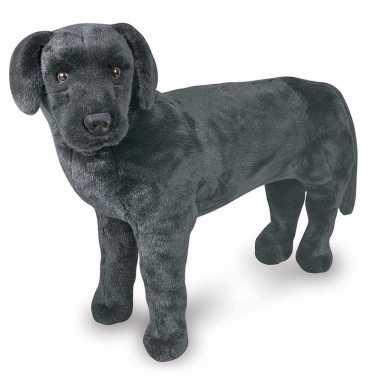 Baby jumbo zwarte labrador knuffel