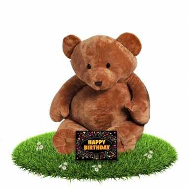 Baby kado knuffel beer boris + gratis verjaardagskaart