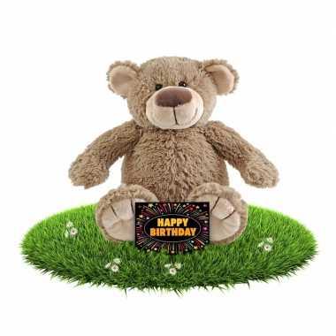 Baby kado knuffel beer + gratis verjaardagskaart