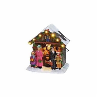 Baby kerstdorp marktkraam knuffels