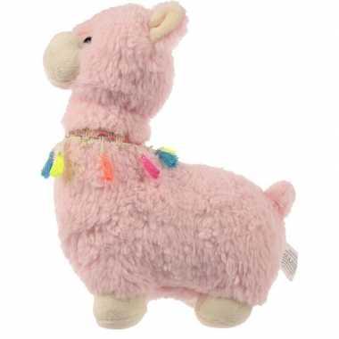 Baby knuffel alpaca/lama deurstoppers/deurwiggen