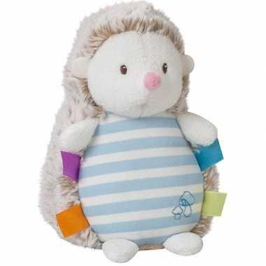 Baby knuffel egel blauw knuffels kopen