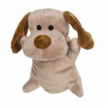 Baby knuffel handpop hond