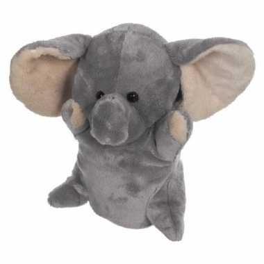 Baby knuffel handpop olifant