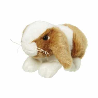 Baby  Knuffel konijn bruin/wit