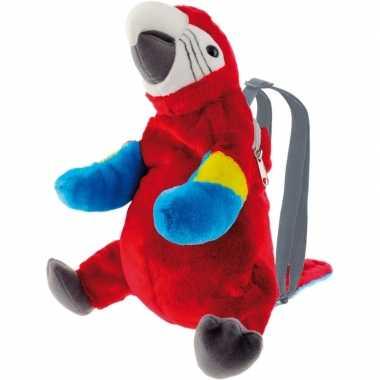 Baby knuffel rugzakje/rugtasje ara papegaai vogels knuffels kopen