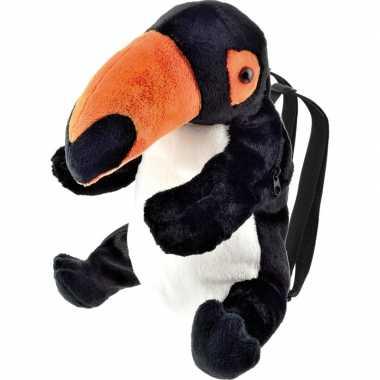 Baby knuffel rugzakje/rugtasje toekan vogels knuffels kopen