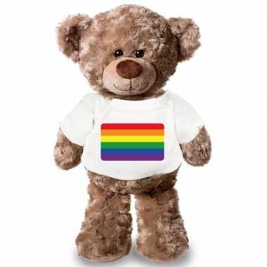 Baby knuffel teddybeer gaypride vlag t shirt