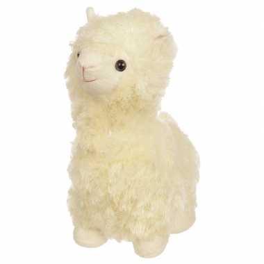 Baby knuffel witte alpaca/lama deurstoppers/deurwiggen cm