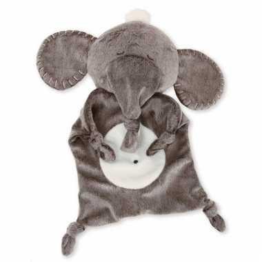 Baby knuffeldoekje grijze olifant