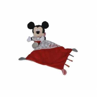 Baby knuffeldoekje mickey mouse rood