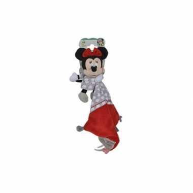 Baby knuffeldoekje minnie mouse rood