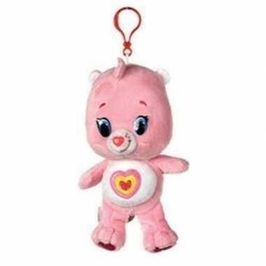 Baby lichtroze troetelbeer knuffelbeertje tashanger