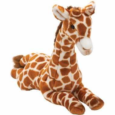Baby liggende pluche giraffe knuffel