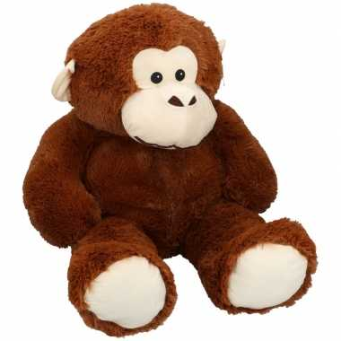 Baby mega pluche chimpansee aap knuffel