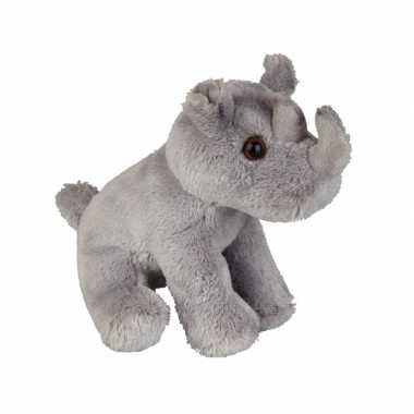 Baby  Neushoorn knuffel zittend
