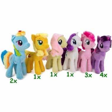Baby paarden knuffel my little pony geel