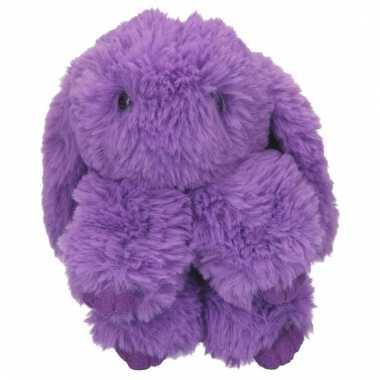 Baby paars topmodel konijntje paars aan hanger knuffel