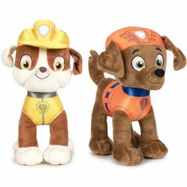Baby paw patrol knuffels set karakters rubble zuma