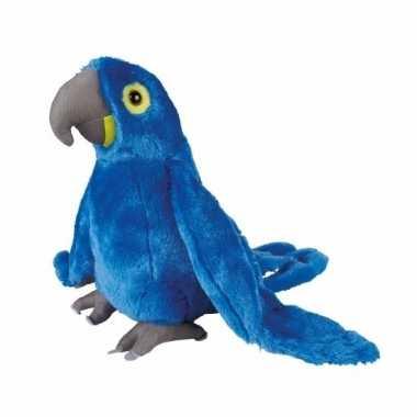 Baby pluche blauwe ara papegaai knuffels