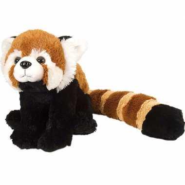 Baby  Pluche dwerg panda rood knuffel