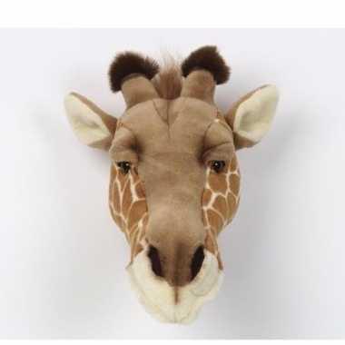 Baby  Pluche giraffenkop muur knuffel