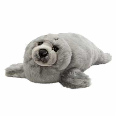 Baby pluche grijze zeehond knuffel