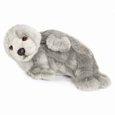 Baby pluche grijze zeehonden knuffel