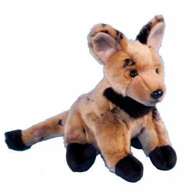 Baby pluche jaaghond hyena knuffel