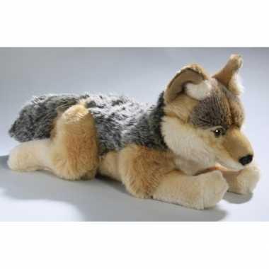 Baby pluche jakhals/wolfje knuffeldier