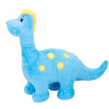 Baby pluche knuffeldier blauwe dinosaurus