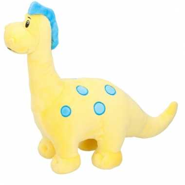 Baby pluche knuffeldier gele dinosaurus