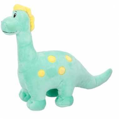 Baby pluche knuffeldier groene dinosaurus