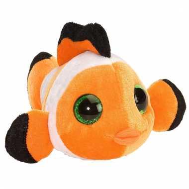 Baby pluche knuffeltje clownsvisje oranje
